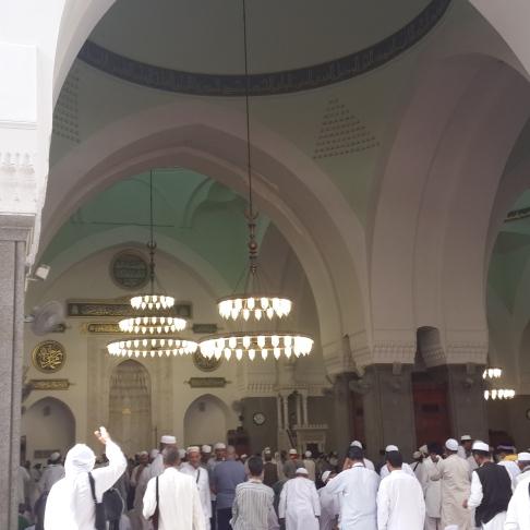 Suasana di dalam Masjid Kuba